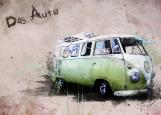 Обложка на автодокументы без уголков, Hippy bus