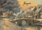 Обложка на паспорт без уголков, Winter holidays