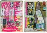 Обложка на паспорт без уголков, Разрисованный паспорт
