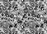 Обложка на паспорт без уголков, Зомби. черно-белый рисунок