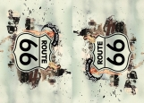 Обложка на автодокументы без уголков, Route 66