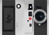 Обложка на паспорт без уголков, фотоаппарат Leica