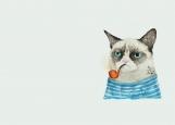Обложка на паспорт без уголков, кот с трубкой
