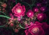 Обложка на паспорт без уголков, Розовые цветы