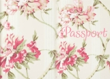 Обложка на паспорт без уголков, Pink flowers
