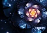 Обложка на паспорт без уголков, нереальный цветок