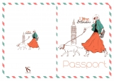 Обложка на паспорт без уголков, I love London