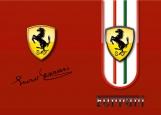 Обложка на автодокументы без уголков, Ferrari
