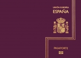 Обложка на паспорт без уголков, Espana Pasaporte violet