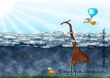 Обложка на автодокументы без уголков, Девочка и жираф