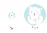 Обложка на паспорт без уголков, Teddybear