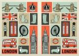 Обложка на паспорт без уголков, London