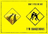 Обложка на автодокументы без уголков, Dangerous