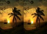 Обложка на паспорт без уголков, пальма закат