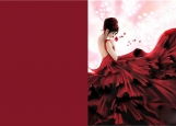 Обложка на автодокументы без уголков, Lady in red