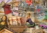 Обложка на автодокументы без уголков, Париж