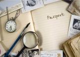 Обложка на паспорт без уголков, Винтаж