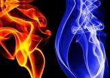 Обложка на автодокументы без уголков, Пламя