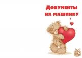 Обложка на автодокументы без уголков, Мишенька