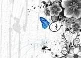 Обложка на паспорт без уголков, синяя бабочка