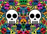 Обложка на автодокументы без уголков, Skull
