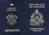 Обложка на паспорт без уголков, USA - Honduras