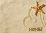 Обложка на паспорт без уголков, Пляж