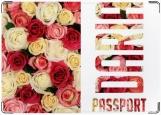 Обложка на паспорт с уголками, Цветы розы Daria Дарья